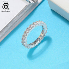 Load image into Gallery viewer, 925 Sterling Silver Rings for Women Wedding With Shiny AAA Cubic Zircon Small Korean Ring