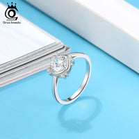 925 Sterling Silver Anniversary Cubic Zirconia Ring