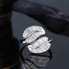 Load image into Gallery viewer, 925 Sterling Silver Leaf Ring