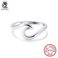 925 Sterling Silver Wave Design Ring
