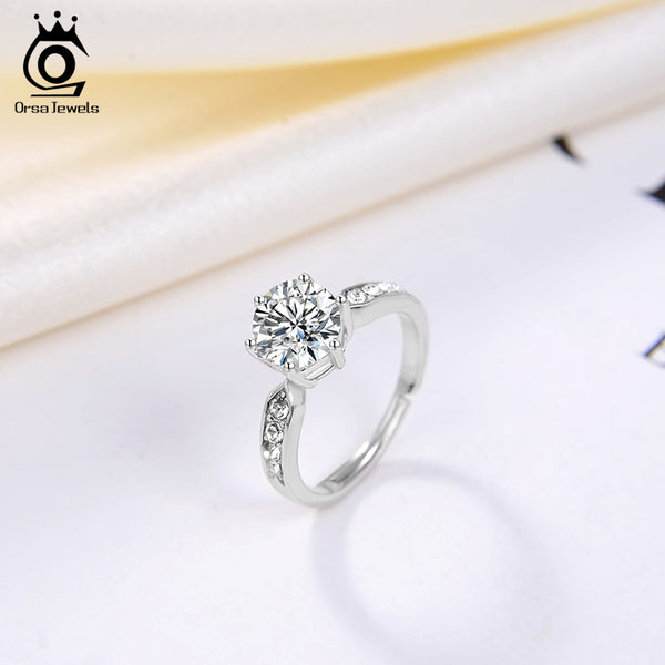 2 Carat Classic 6 Prong Setting Wedding Engagement Ring