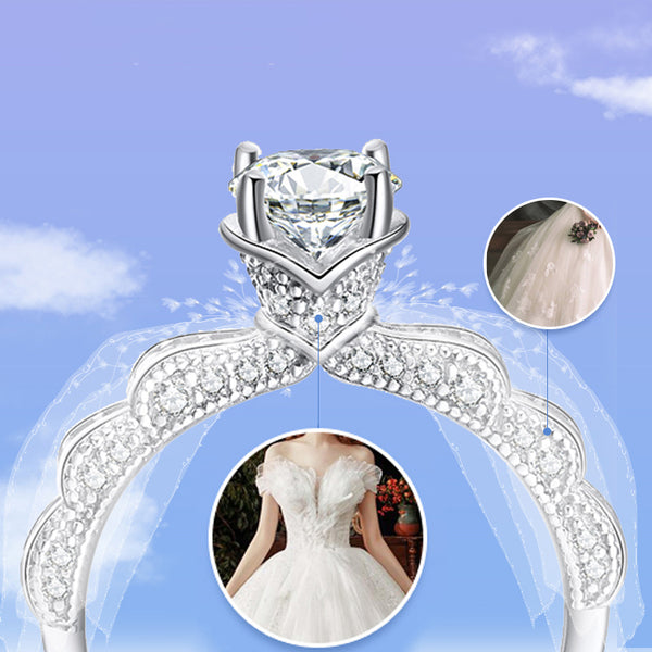 Bridal Wedding Dress Shape Creative Wedding Ring