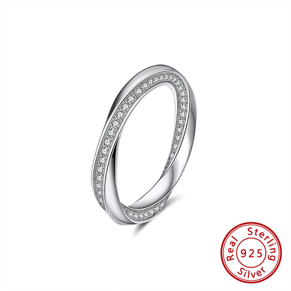 Unisex Mobius Band Eternity Ring For Proposal Engagement Wedding