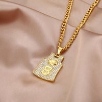 Number 24 /8 Jersey Pendant Necklace in Gold