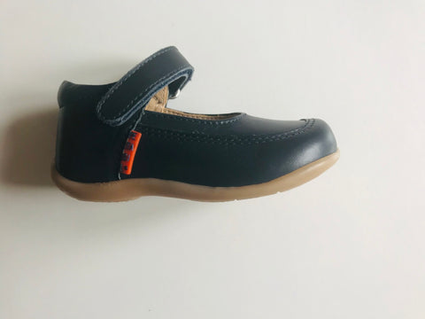 Petasil Pat Girls First Shoe in Navy