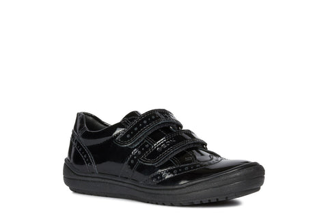 Geox Hadriel Girls Patent School Shoe