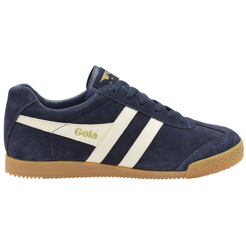 Gola Harrier Boys Trainer in Navy and White
