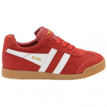 Gola Harrier in Red and White Boys Trainer