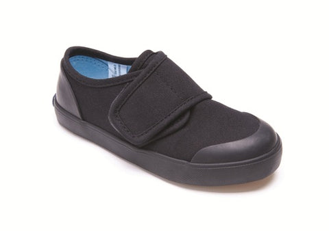 Start-rite Skip - Black School Plimsoll