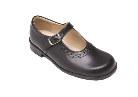 Start-rite Louisa Black Girls School Shoe.