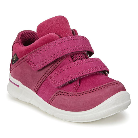Ecco First Girls Goretex Trainer Boot in Plum
