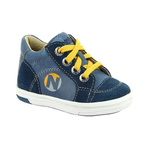 Noel Mini March Boys Blue Lace Up Boot