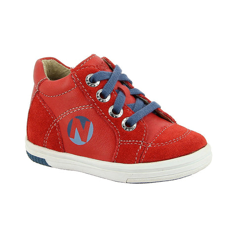 Noel Mini March Boys Red Lace Up Boot