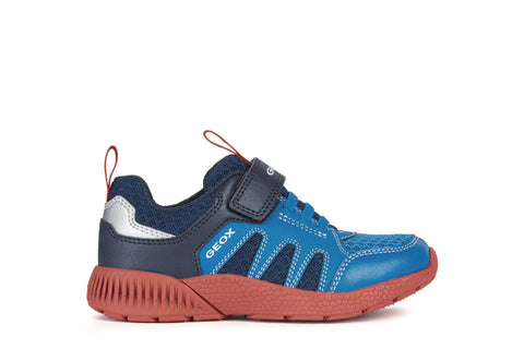 Geox Sveth Boys Trainer in Blue and Red