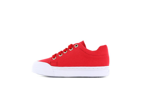 Shoesme Go Bananas Unisex Canvas Shoe in Red