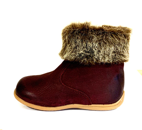 Bo-Bell Tundra Girls Ankle Boot in Bordeaux