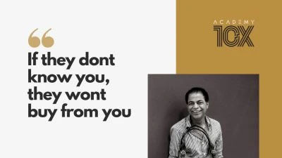 "Masterclass by Dilip Kapur - Founder of Hidesign says, ""If they don't know you, they won't buy from you"""