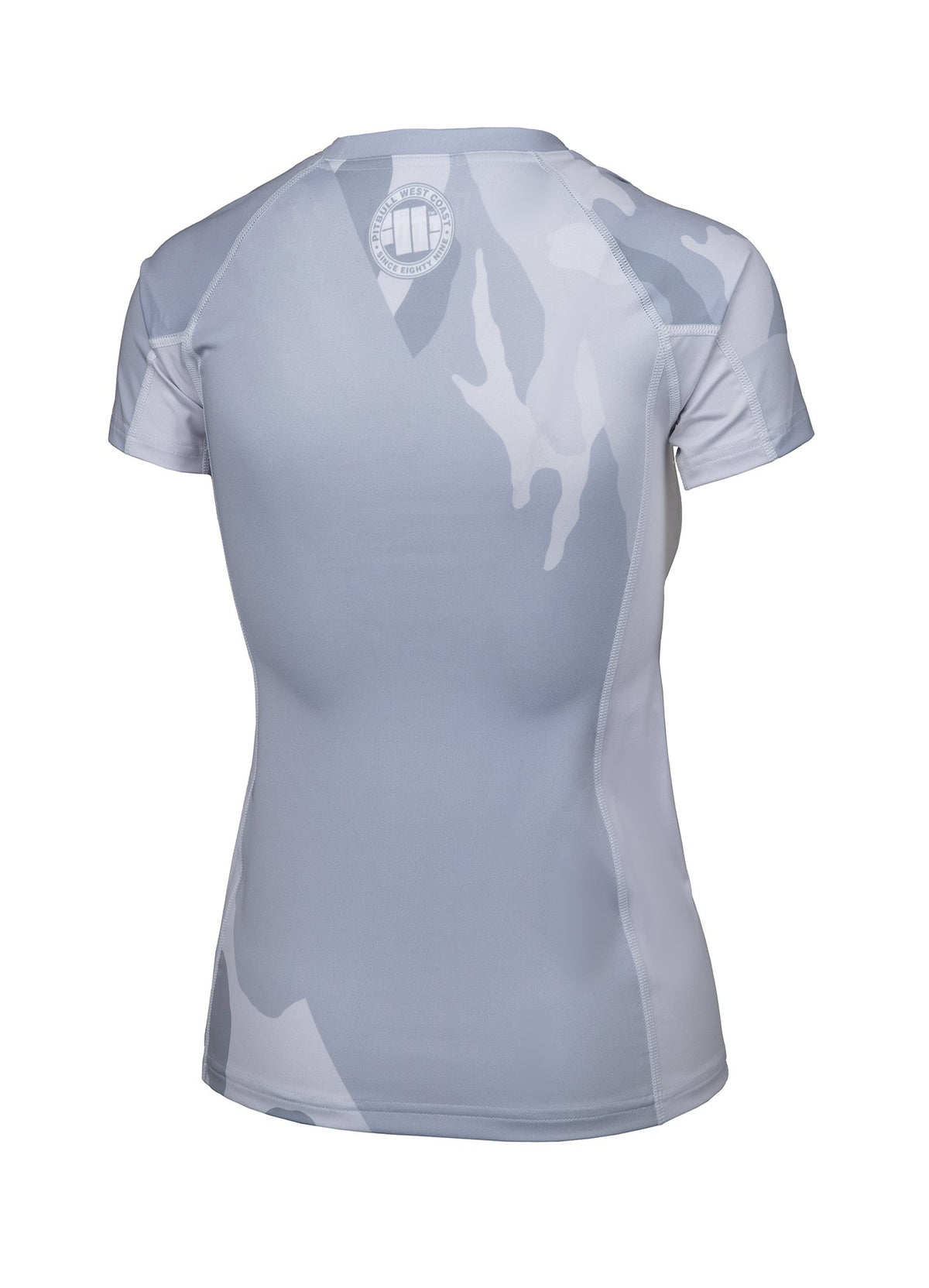 Women Rashguard Short Sleeve WHITE CAMO - Pitbull West Coast U.S.A.