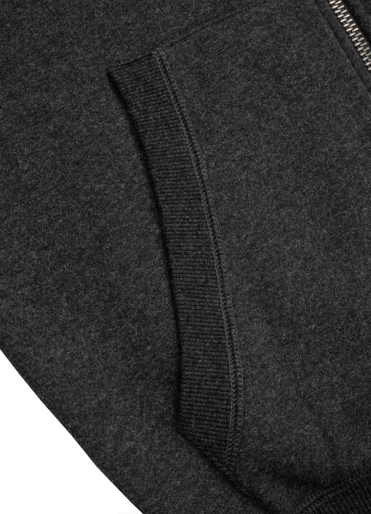 HOODED ZIP SMALL LOGO 2020 CHARCOAL