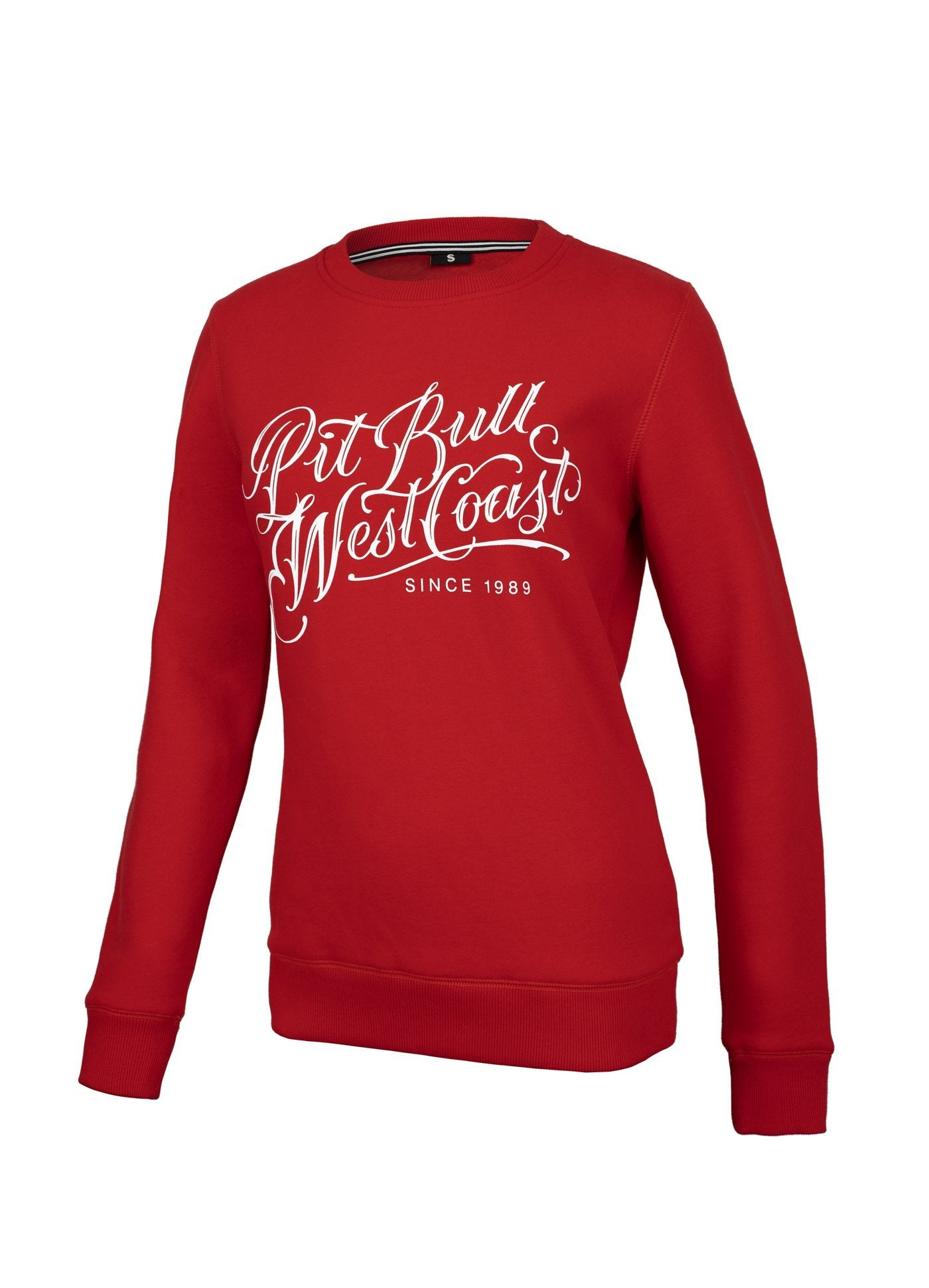 Women Crewneck Blackshaw Red - Pitbull West Coast U.S.A.