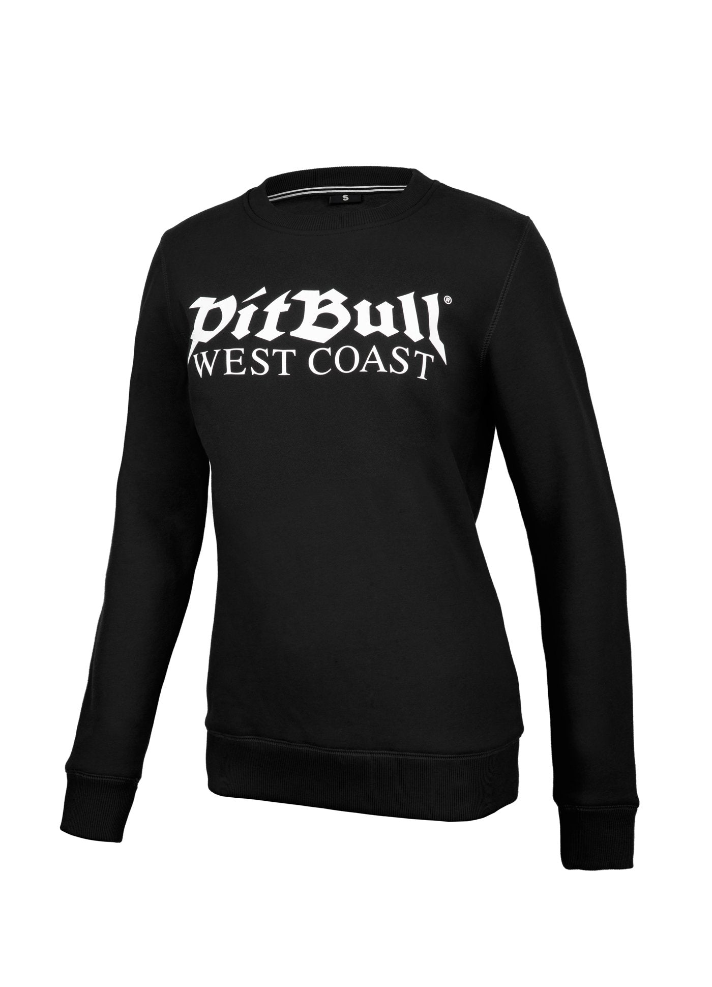 Women OLD LOGO Crewneck Black - Pitbull West Coast U.S.A.