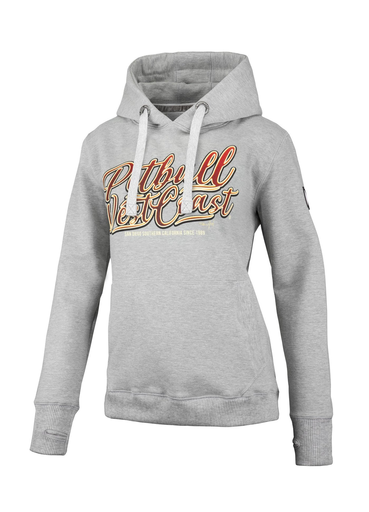WOMEN HOODIE City of Dogs GREY MLG - Pitbull West Coast U.S.A.
