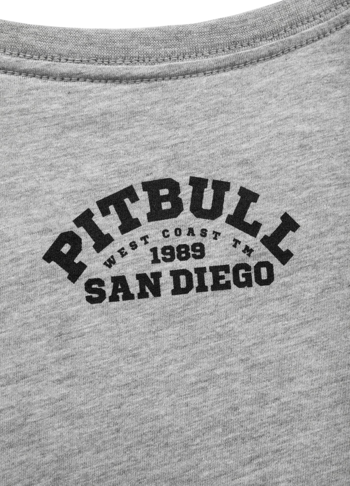 T-shirt UNIVERSITY LOGO Grey Melange - Pitbull West Coast U.S.A.
