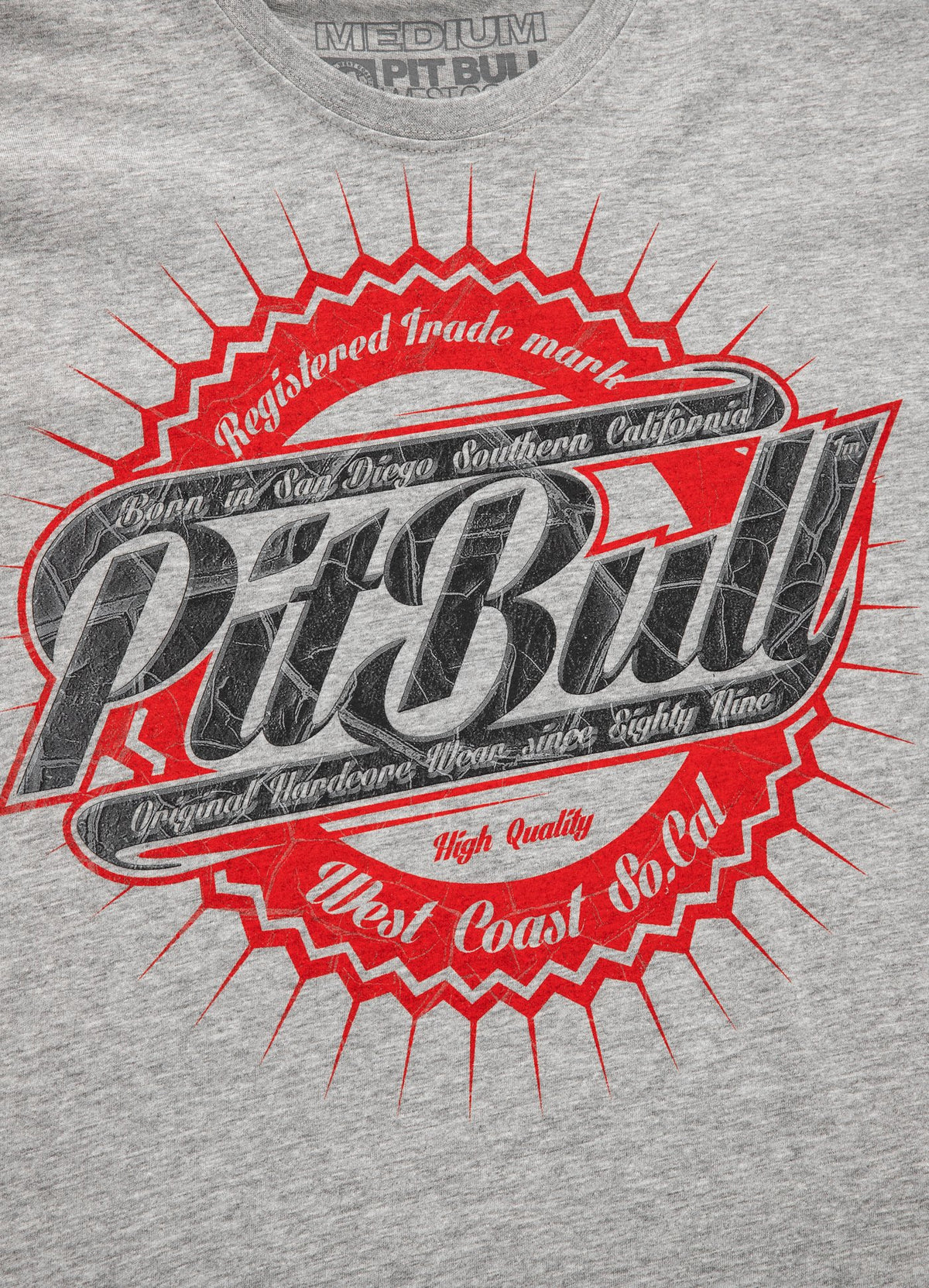 T-shirt STAMP 16 Grey Melange - Pitbull West Coast U.S.A.