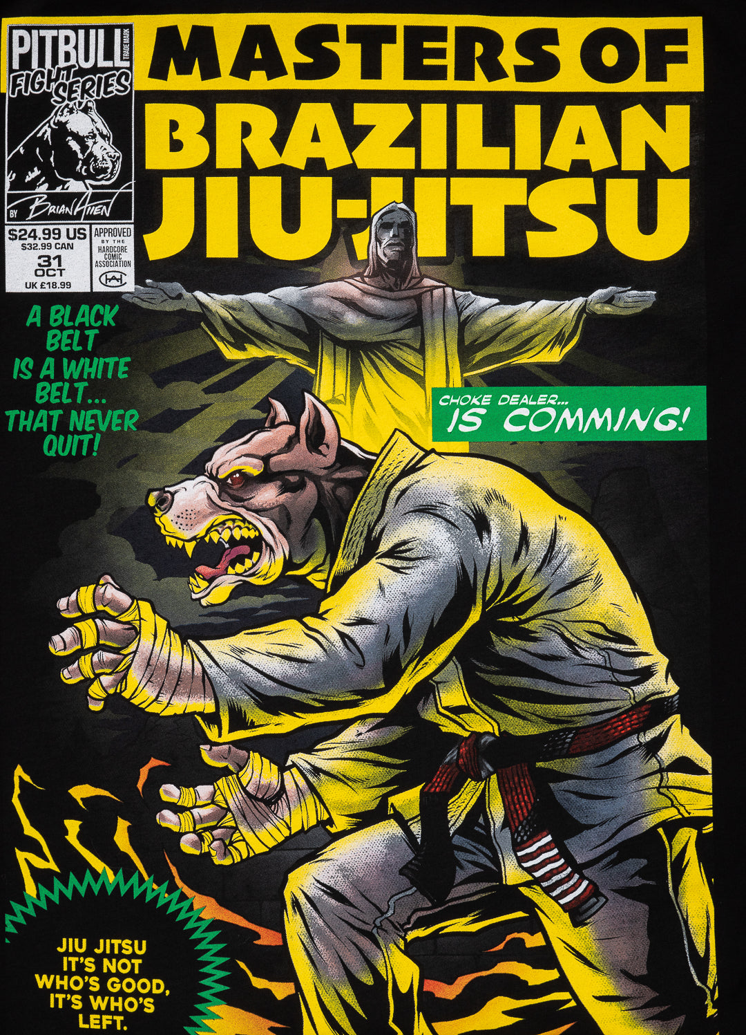 T-shirt MASTER OF BJJ Black - Pitbull West Coast U.S.A.