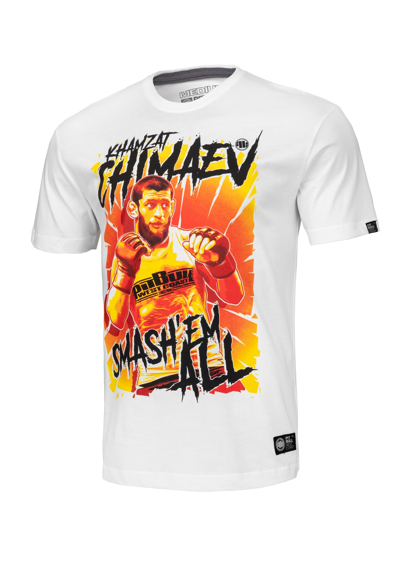 Official Khamzat Chimaev - Smash'em all T-shirt from PITBULL USA