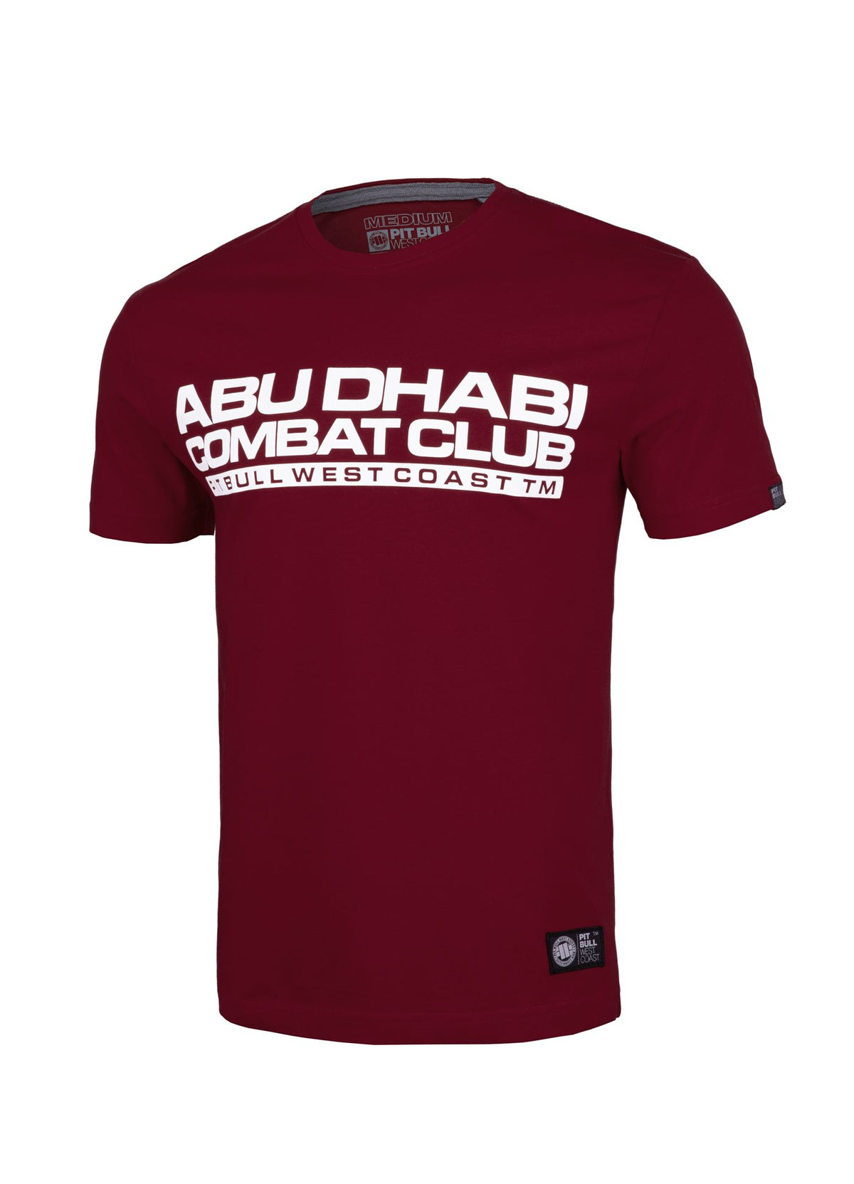 Combat ABU DHABI T-Shirt Burgundy - Pitbull West Coast U.S.A.
