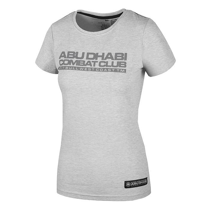 T-SHIRT COBAT ABU DHABI 2017 WOMAN GREY MELANGE - Pitbull West Coast U.S.A.