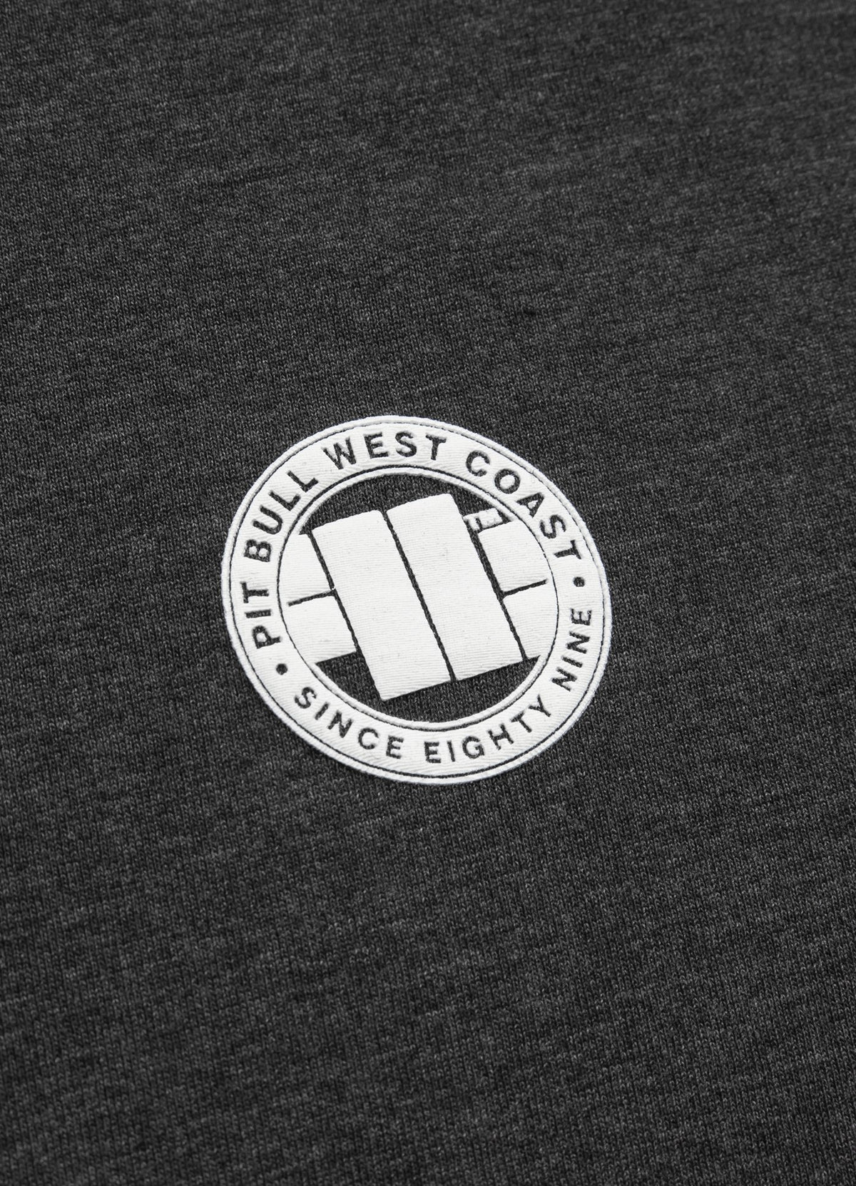 T-Shirt SMALL LOGO Charcoal Melange - Pitbull West Coast U.S.A.