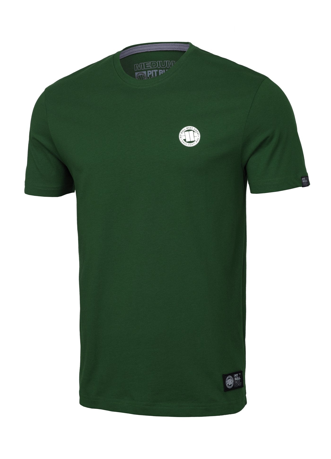 T-Shirt SMALL LOGO Dark Green - Pitbull West Coast U.S.A.