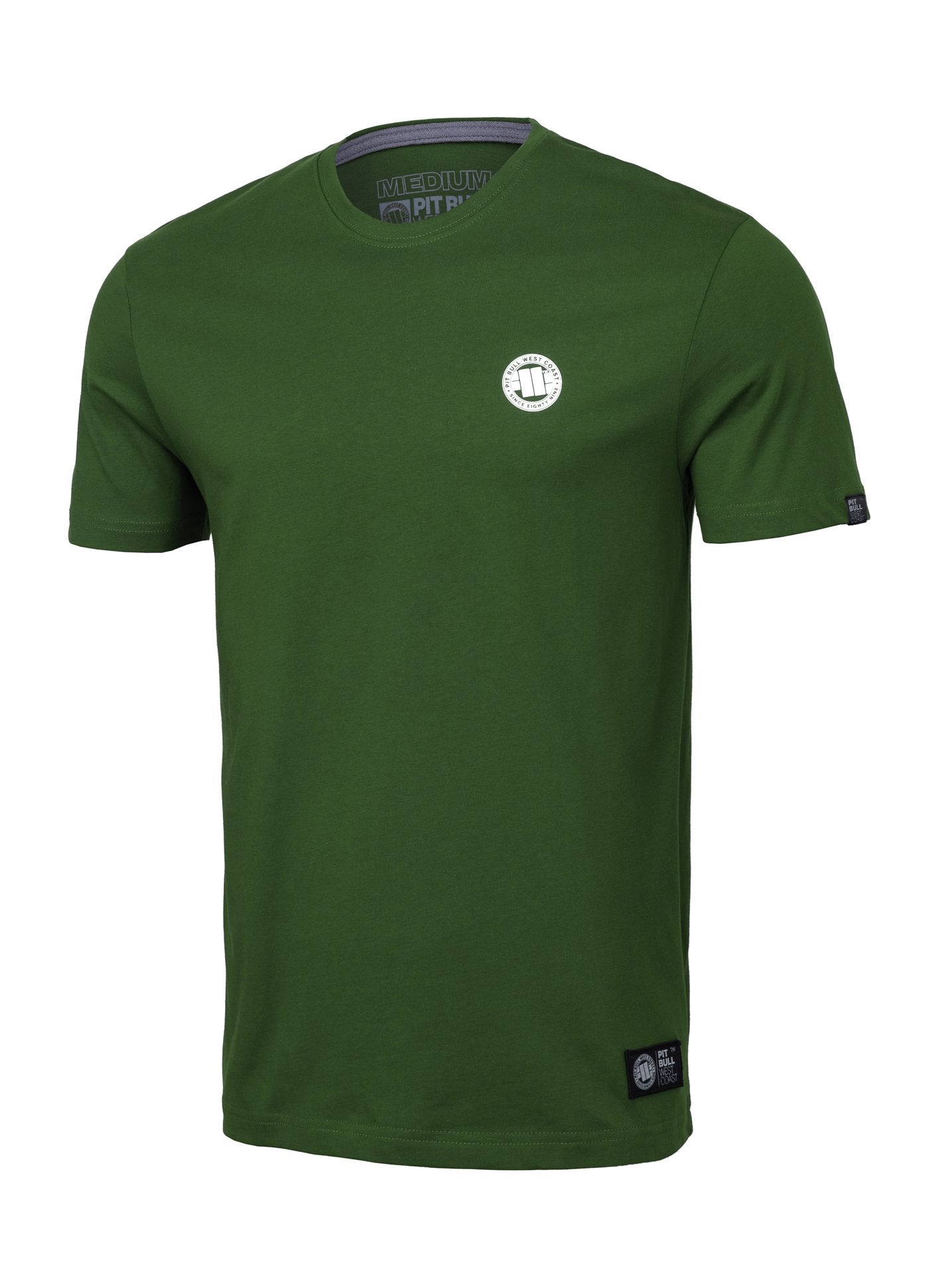 T-Shirt SMALL LOGO Green - Pitbull West Coast U.S.A.