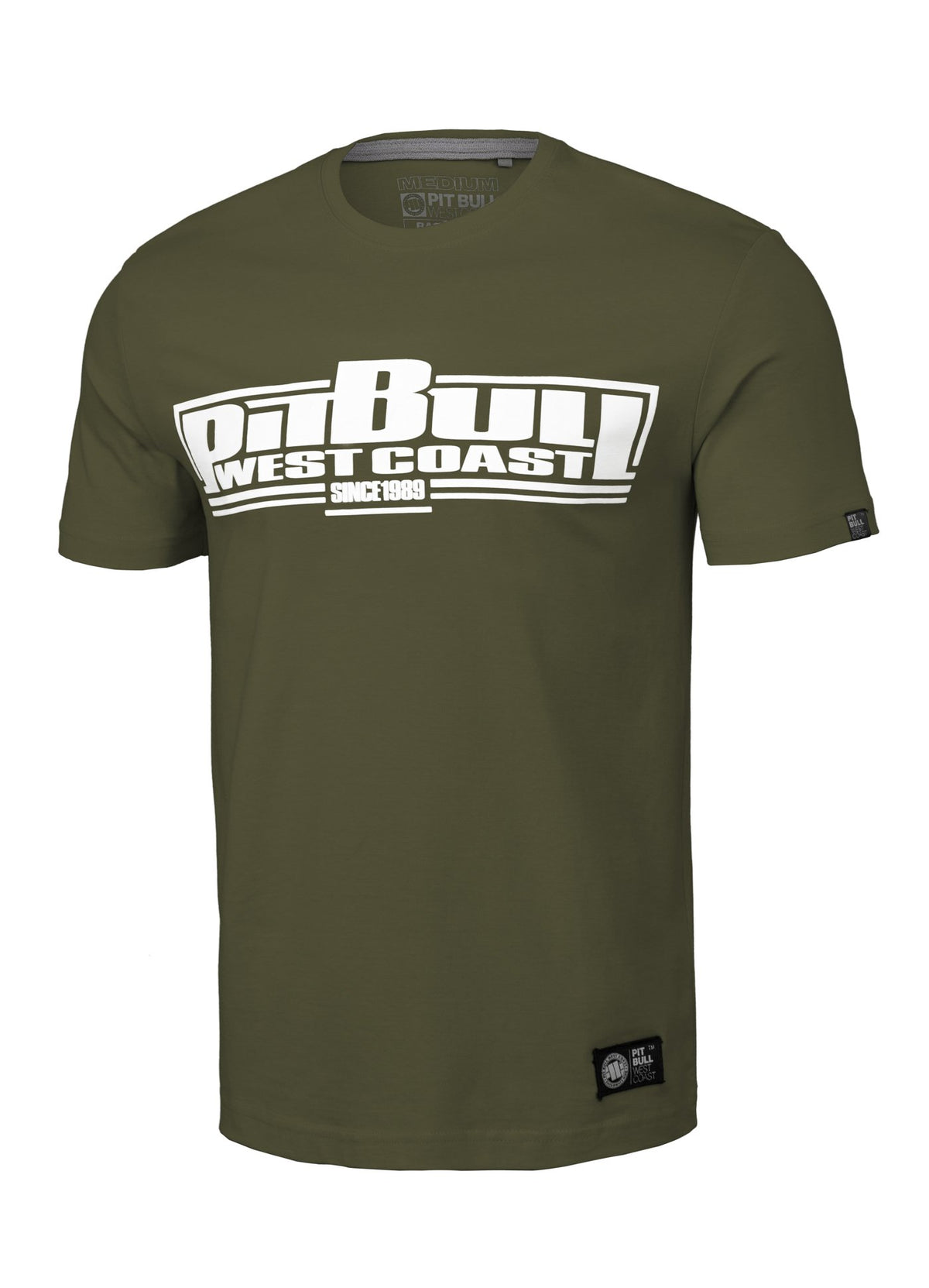 T-shirt CLASSIC BOXING Olive - Pitbull West Coast U.S.A.