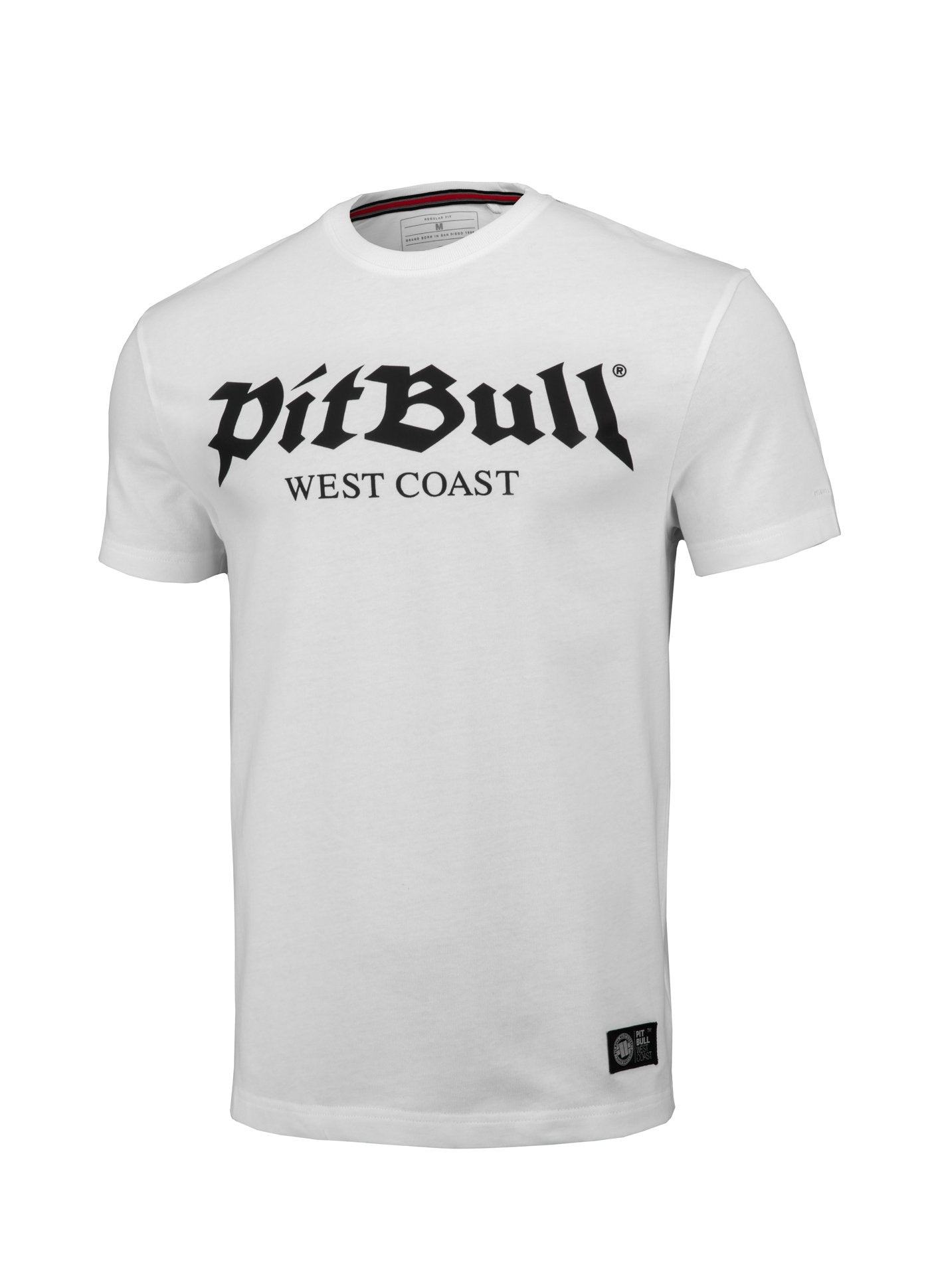 T-shirt Regular Fit Old Logo White - Pitbull West Coast U.S.A.