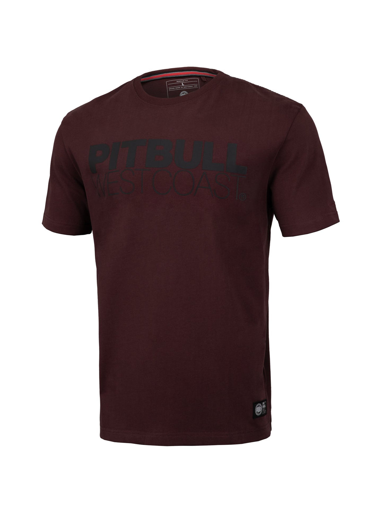 T-shirt Regular Fit TNT Burgundy - Pitbull West Coast U.S.A.