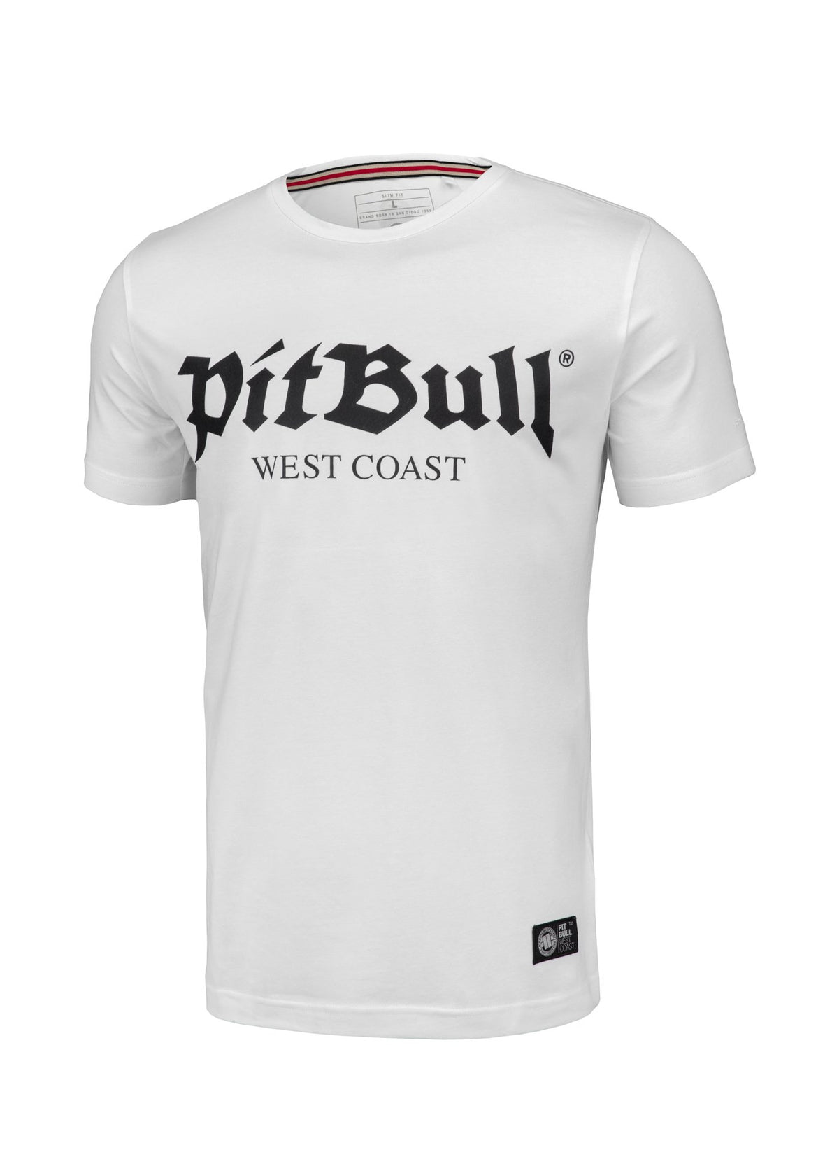T-shirt Slim Fit Old Logo White - Pitbull West Coast U.S.A.