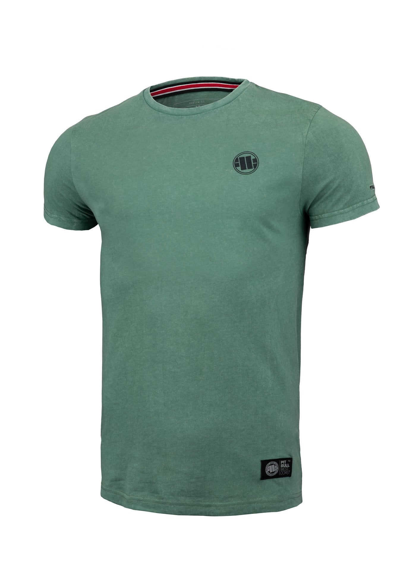 T-shirt Denim Small logo Green - Pitbull West Coast U.S.A.