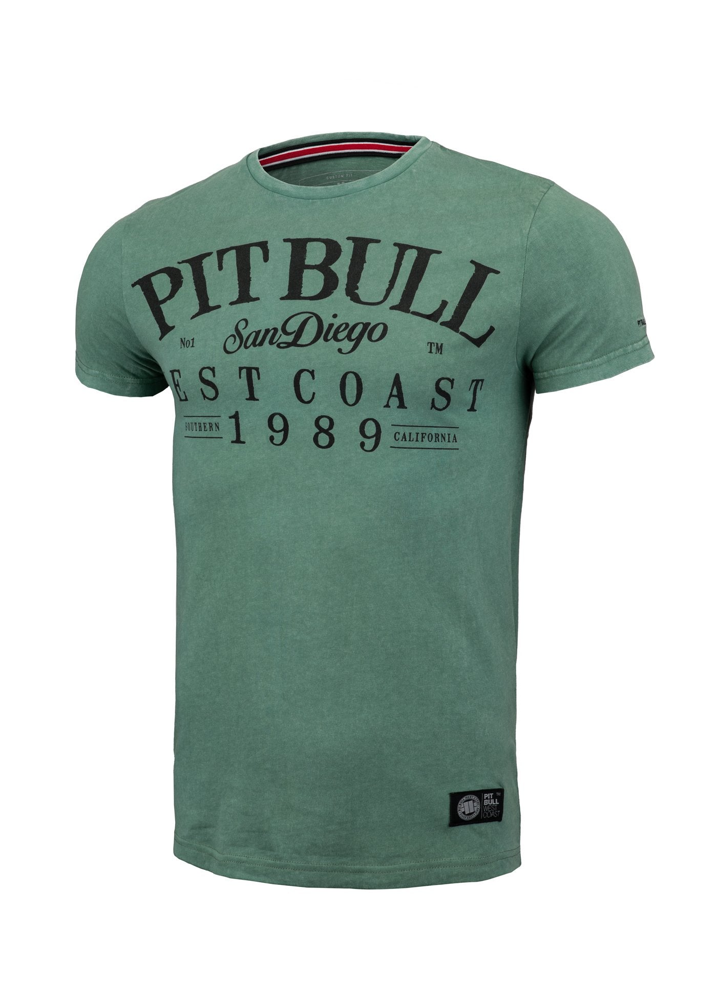 T-shirt Denim Oldschool Green - Pitbull West Coast U.S.A.
