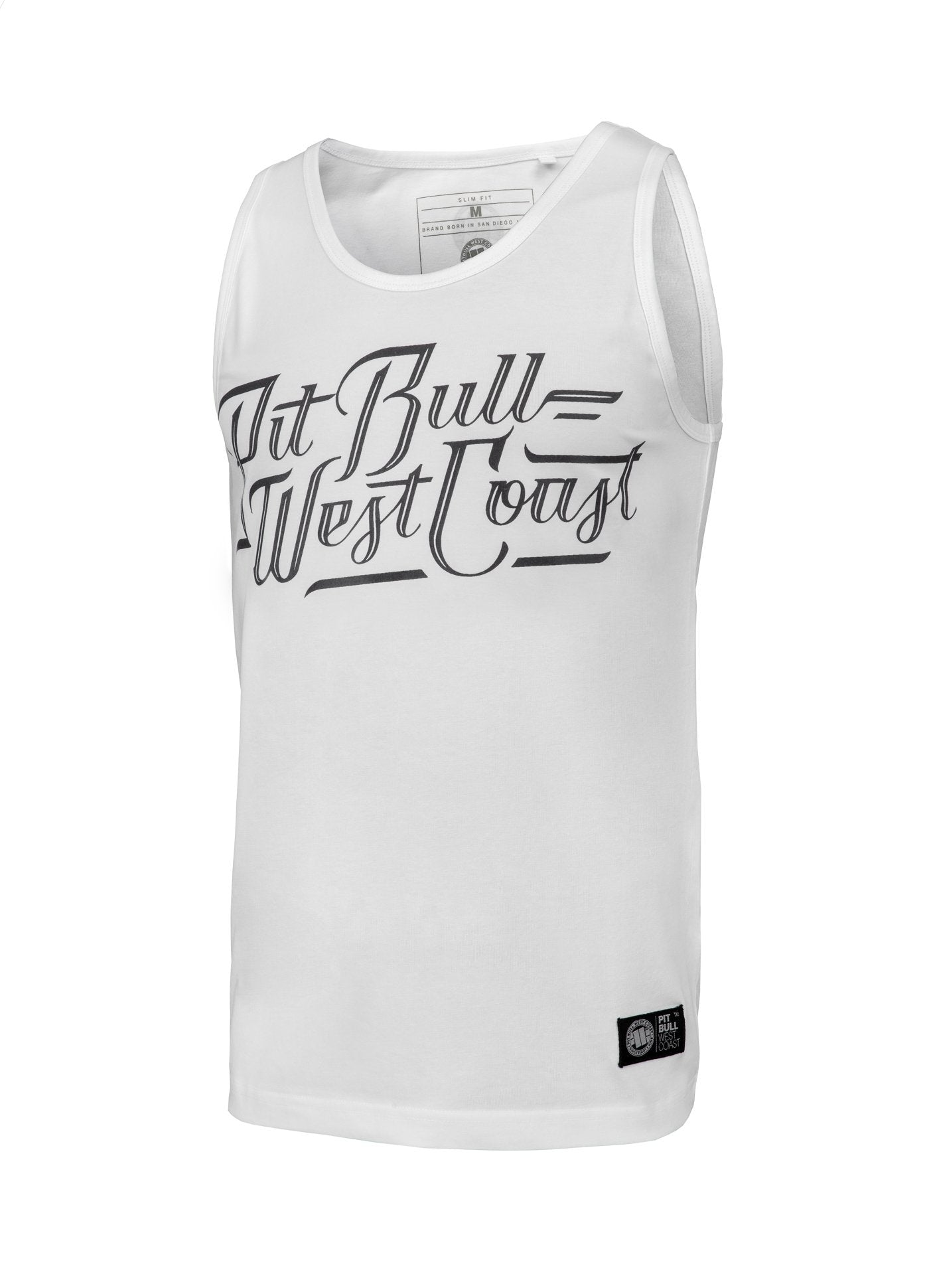 Tank Top Slim Fit Speed White - Pitbull West Coast U.S.A.