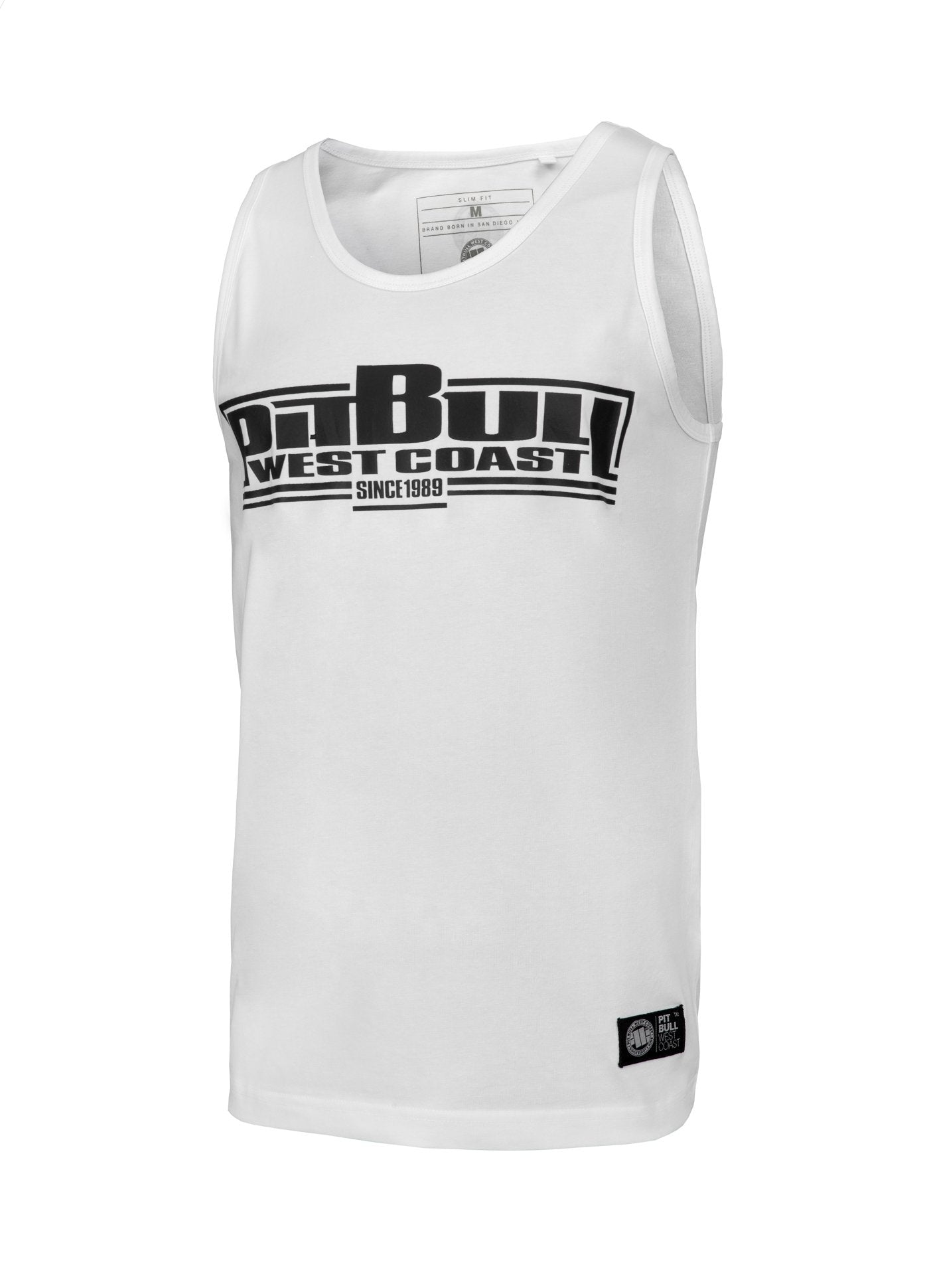 Tank Top Slim Fit Boxing White - Pitbull West Coast U.S.A.