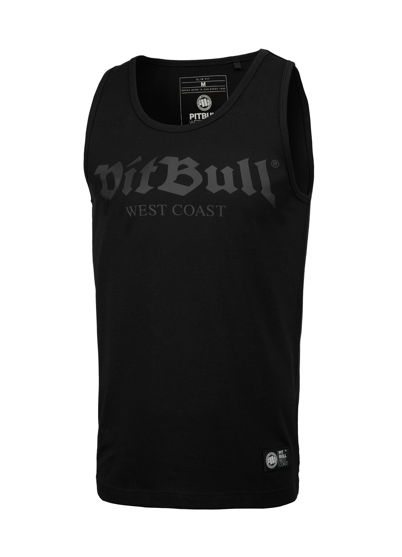Tank Top Slim Fit Old Logo Black - Pitbull West Coast U.S.A.