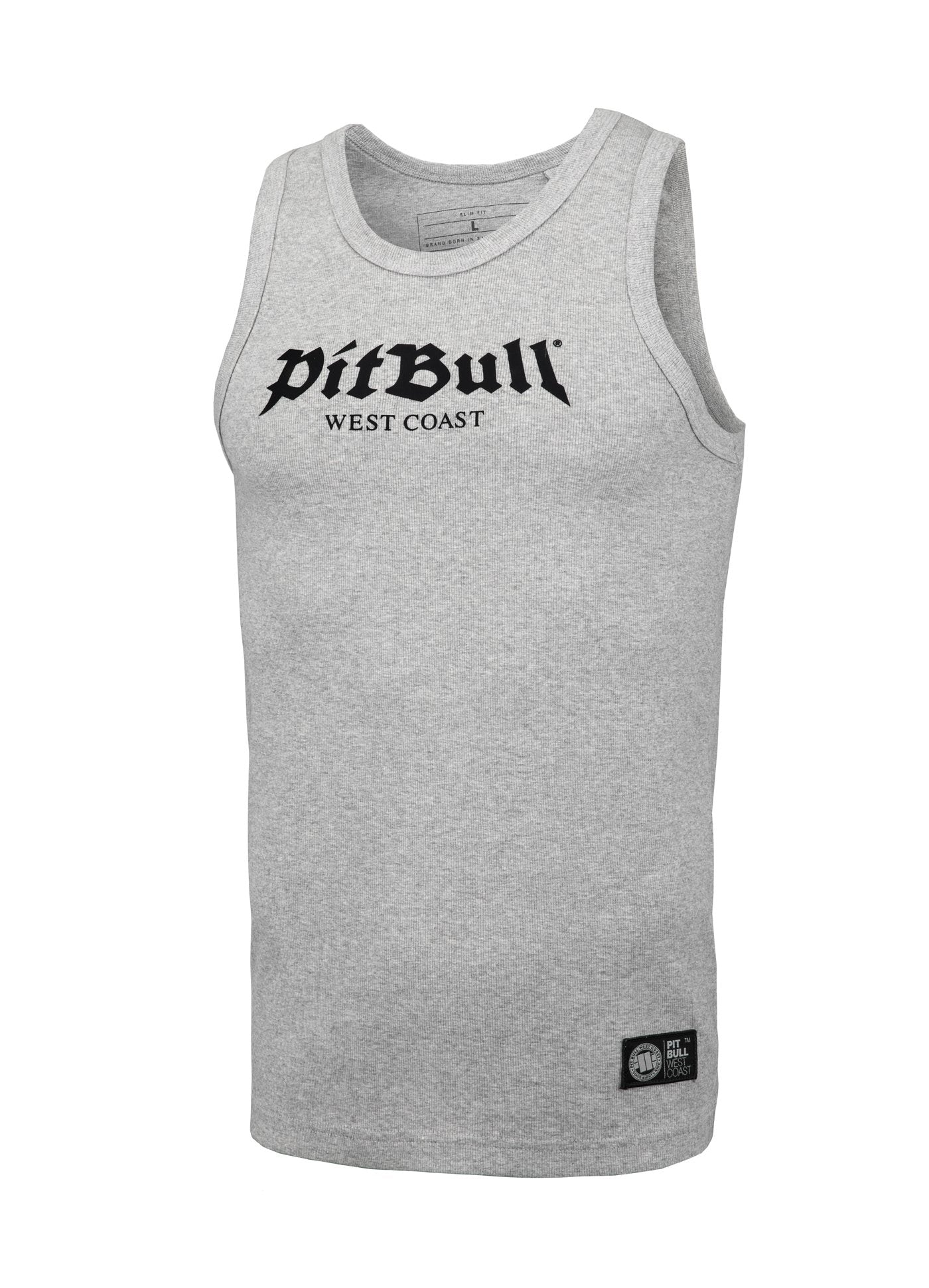 Rib Tank Top Old Logo Grey MLG - Pitbull West Coast U.S.A.