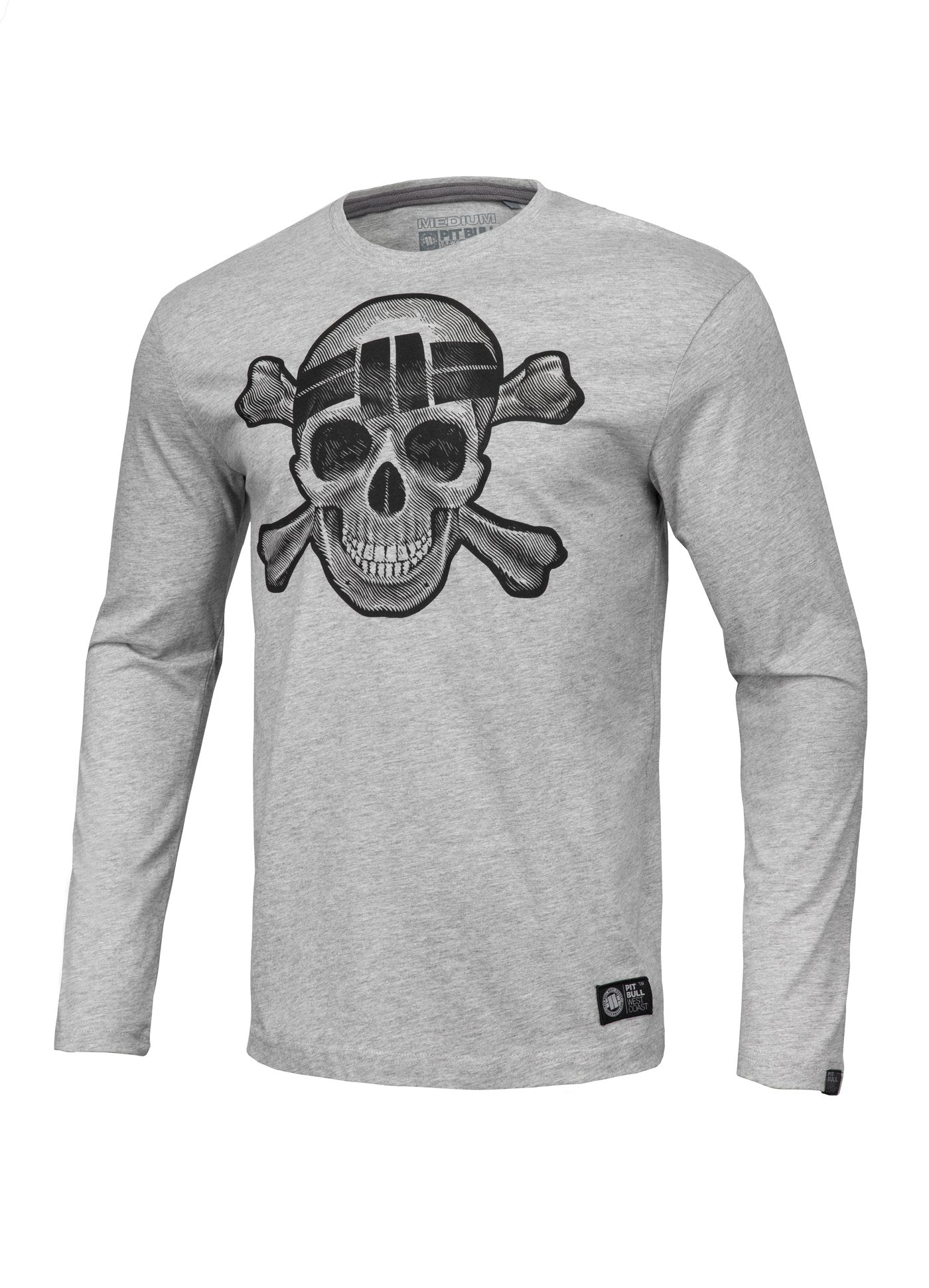 Longsleeve Skull Wear Grey - Pitbull West Coast U.S.A.