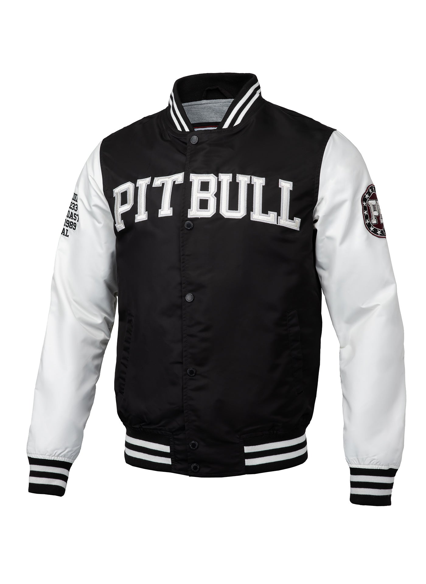 Varsity Jacket WILSON Black - Pitbull West Coast U.S.A.
