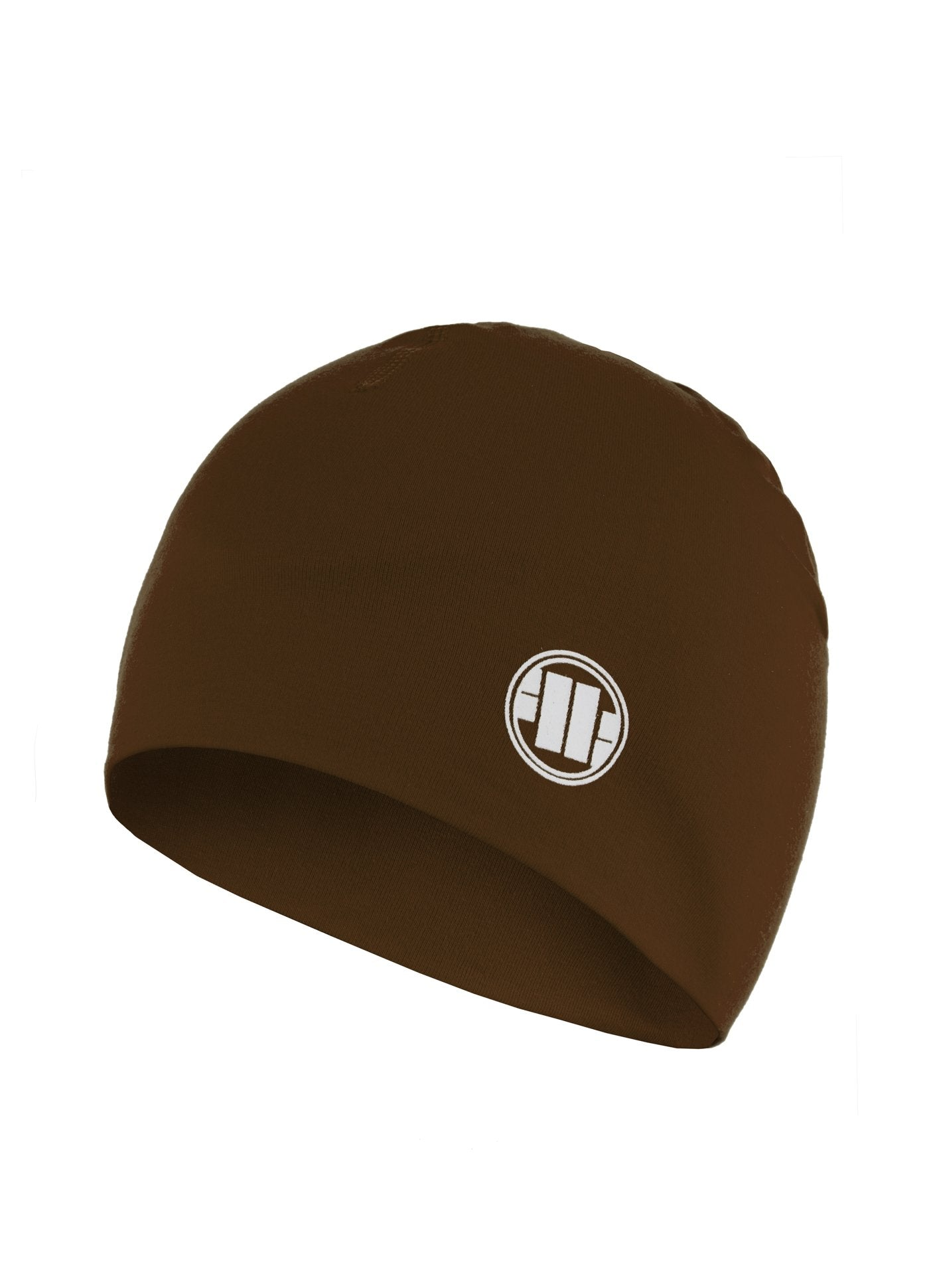 Compression Beanie SMALL LOGO Brown - Pitbull West Coast U.S.A.