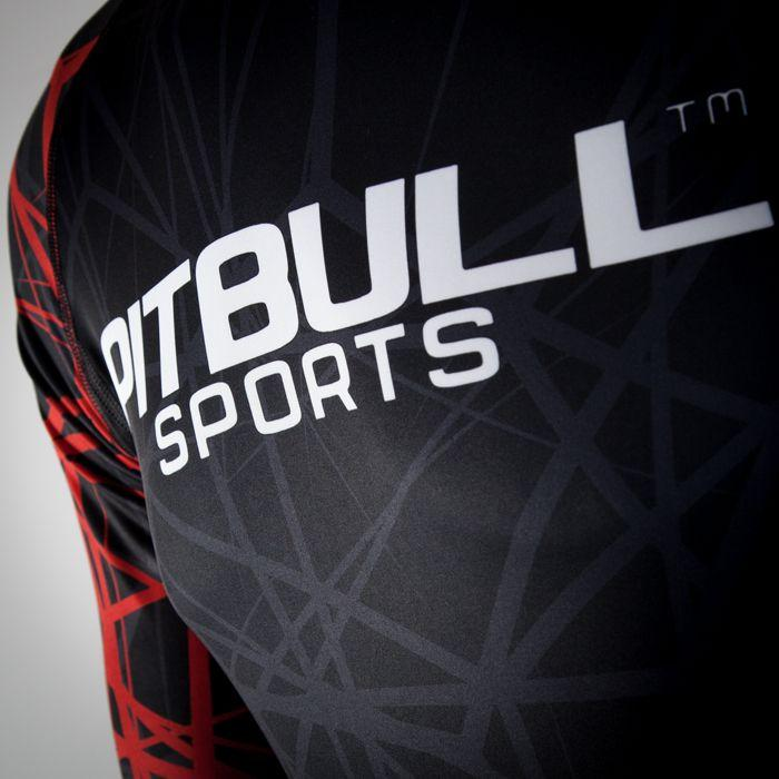 Red Ray Long Sleeve Rashguard - Pitbull West Coast U.S.A.