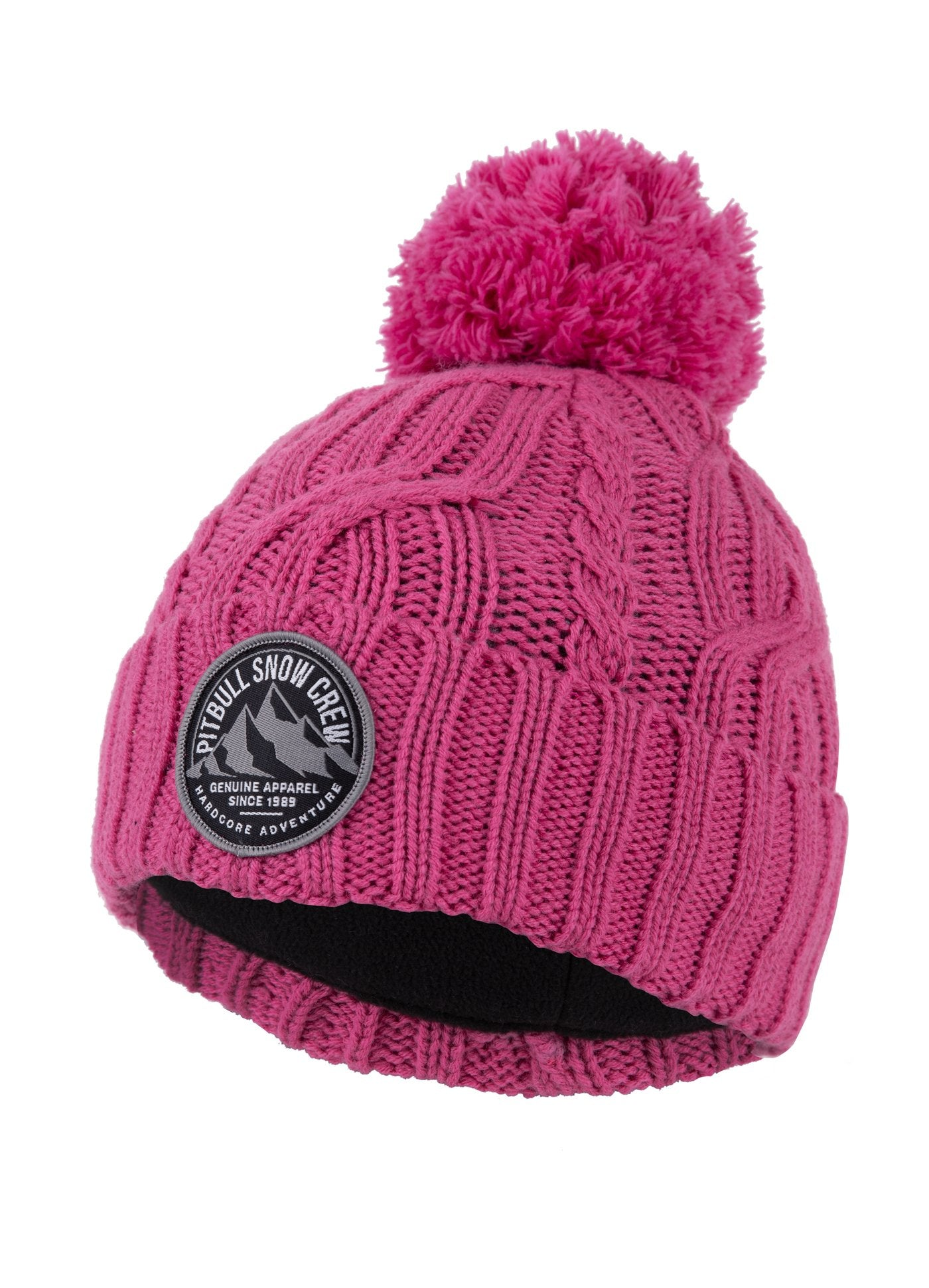 """SNOW CREW"" Winter Beanie Pink - Pitbull West Coast U.S.A."